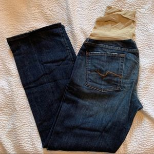 7 For All Mankind Boot Cut Maternity Jeans